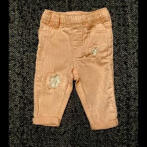 First impressions pink textured pants size…